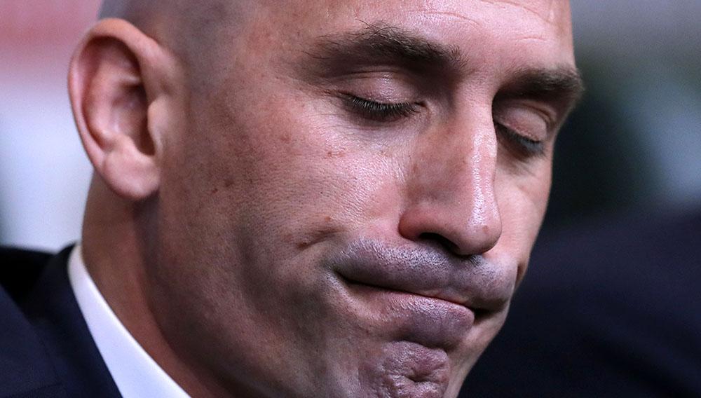 Close up del rostro de Julen Lopetegui, entrenador de la selección española de fútbol.