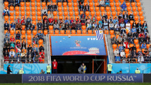 Soccer Football - World Cup - Group A - Egypt vs Uruguay - Ekaterinburg Arena, Yekaterinburg, Russia - June 15, 2018 General view of empty seats during the match.