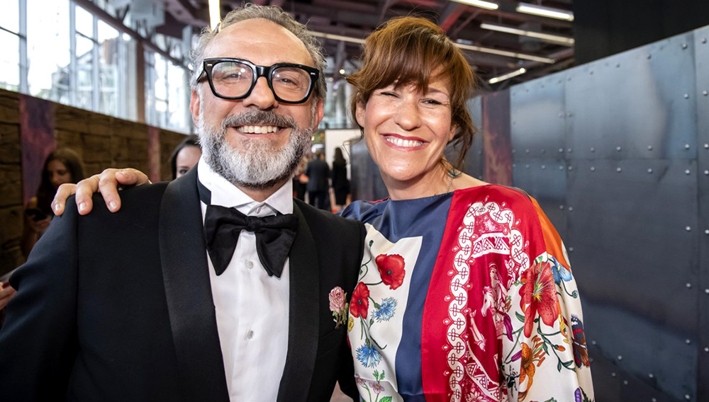 Massimo Bottura and Lara Gilmore of Osteria Francescana.