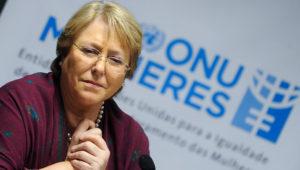 Diretora executiva da ONU Mulheres, Michelle Bachelet, presidente do Chile. Foto: ONU.