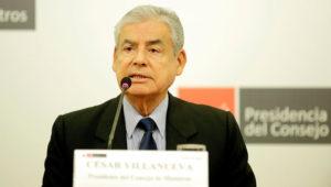 César Villanueva, presidente del Consejo de Ministros del Perú, en conferencia de prensa en Lima, Perú (Foto: PCM).