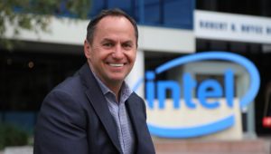 Bob Swan at Intel's Santa Clara headquarters. Photo: Intel