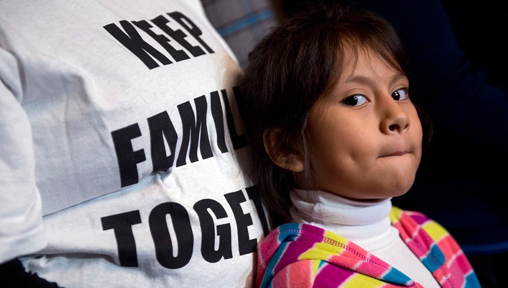 Heather Pina-Ledezma, 6, attends a news conference in the Capitol with Democratic senators and families impacted by President Obama's executive action on undocumented immigrants and to call on Republicans to pass immigration legislation, December 10, 2014. Heather's mother Madai is from Mexico but Heather was born in Annapolis. Photo: Getty Images