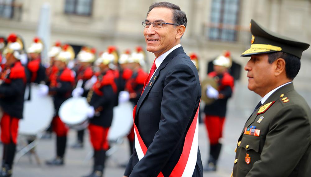 El jefe de Estado, Martín Vizcarra, participa en la Misa y Te Deum que se realiza en la Catedral de Lima por el 197 Aniversario de la Independencia del Perú. 28 de julio de 2018. Foto: Presidencia Perú (Flickr)