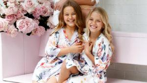 Keepsake Rose Rayon Flower Girl Robe Lerose USA