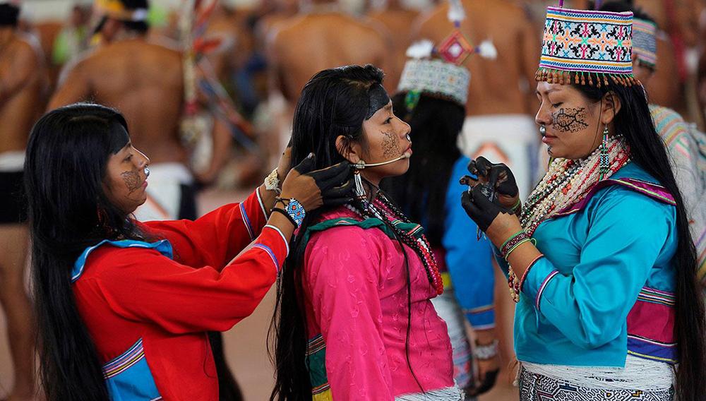Papa Francisco se reunió con comunidades indígenas en Puerto Maldonado. 19/01/2018