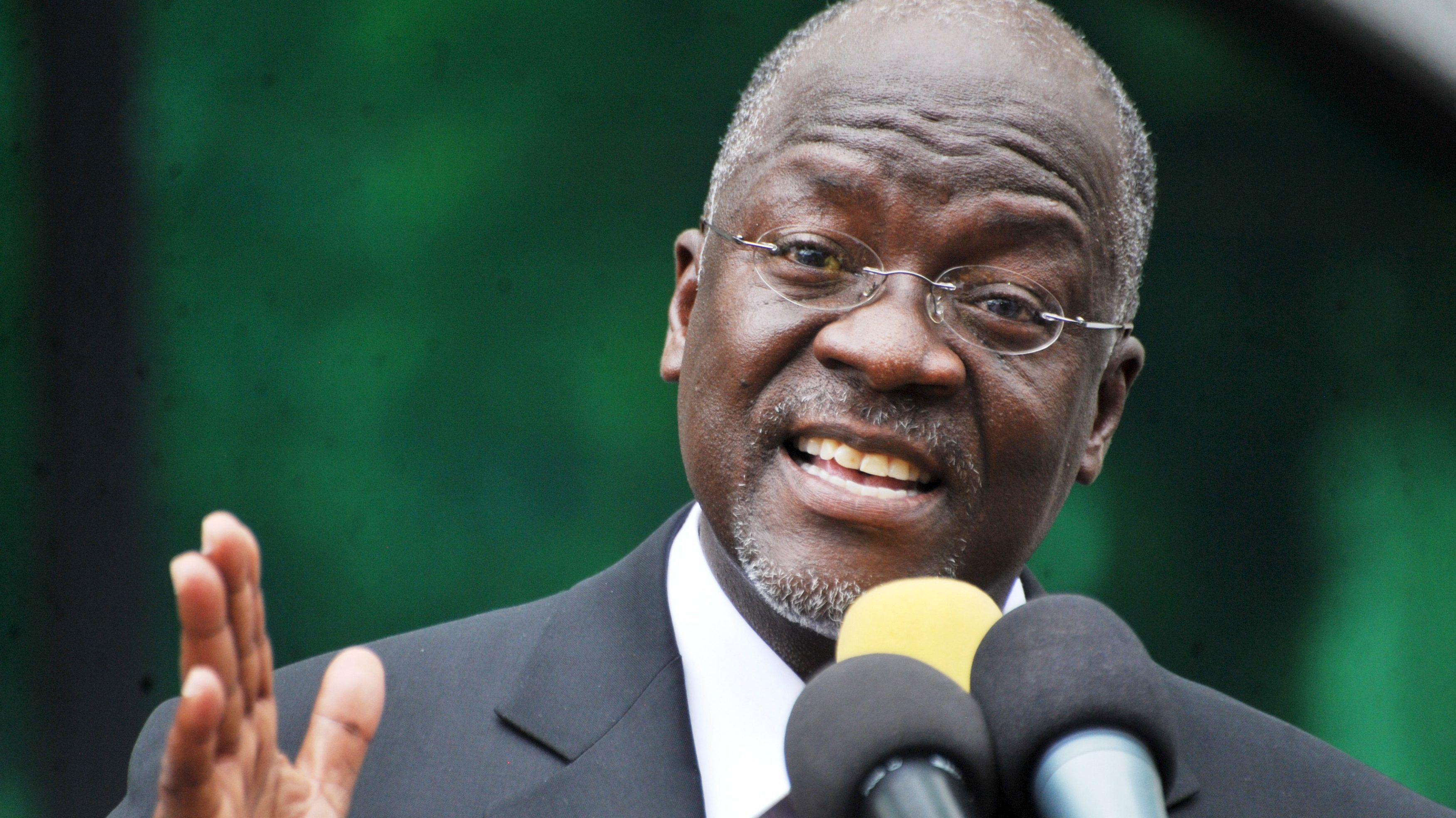 John Magufuli. My way...or Aliko's way. (Reuters/Sadi Said)