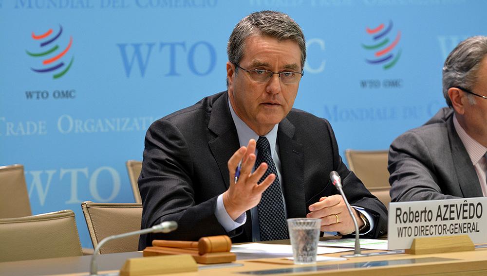 O segundo mandato do brasileiro Roberto Azevêdo começa no dia primeiro de setembro de 2017. Foto: OMC