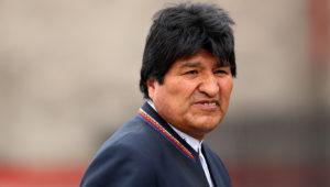 El presidente de Bolivia, Evo Morales asiste a la investidura del presidente electo de Colombia, Iván Duque. EFE/Leonardo Muñoz