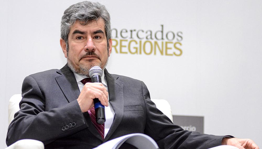 Ministro de Comercio Exterior y Turismo, Rogers Valencia, en Conferencia Alpaca Fiesta - 2018. Mincetur Perú. Tomada el 20 de agosto de 2018. Foto: Mincetur (Flickr)