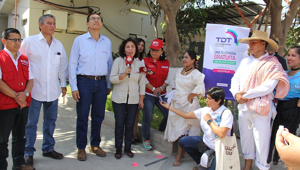 Inauguración de la implementación del sistema de Televisión Digital Terrestre con la presencia del presidente. Tomada el 21 de agosto de 2018. Foto: Ministerio de Cultura Perú (Flickr)