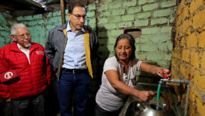 Presidente Vizcarra entrega obras de abastecimiento de agua potable a ciudadanos de Valle Amauta 3, en Ate Vitarte