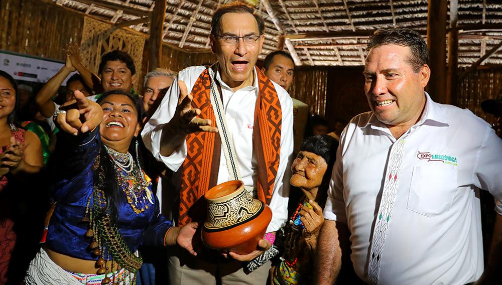 Presidente Vizcarra inaugura la Expo Amazónica en Ucayali. Foto: Presidencia Perú (Flickr)