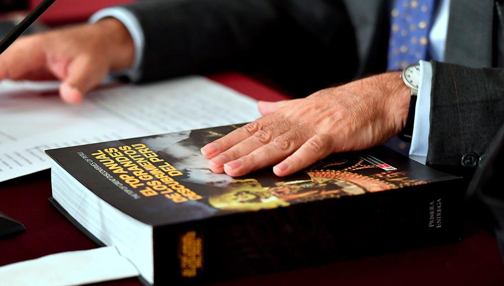 """Presentación del libro """"El top anual de los grandes descubrimientos del Perú"""". 24 de julio de 2018. Foto: Cancillería de Perú (Flickr)"""