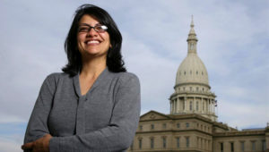 Rashida Tlaib, who is of Palestinian descent, is set to become the second Muslim to serve in Congress this year [Al Goldis/AP]