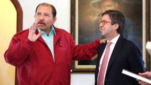 El Presidente de Nicaragua, Comandante Daniel Ortega Saavedra, se reúne con Luis Alberto Moreno, presidente del Banco Interamericano de Desarrollo (BID). Foto: El19Digital.com