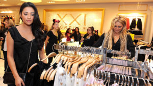 Actress Shay Mitchell attends the Minnie Muse Collection Launch at the Forever 21 in Hollywood and Highland on November 16, 2010 in Hollywood, California. Photo: Michael Buckner / Getty Images.