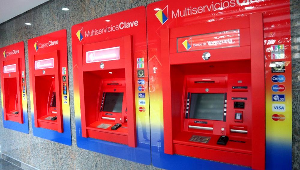 Cajeros automáticos del Banco de Venezuela. Foto: http://www.minci.gob.ve/