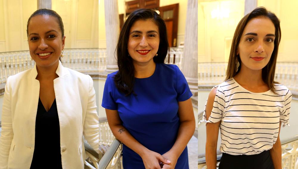 Candidatas latinas Catalina Cruz, Jessica Ramos y Julia Salazar luchan por aumentar poder de la mujer en la Legislatura. (Foto: eldiariony.com)