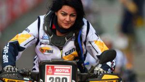 Piloto boliviana Suany Martínez participando en el Rally Dakar 2017. Foto: AFP.