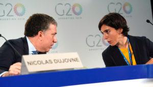 Delegados argentinos Nicolás Dujovne, ministro de Hacienda; y Veronica Rappoport, vicepresidente segunda del Banco Central - 4ta reunión de ministros de Finanzas y presidentes de Bancos Centrales. Foto: G20 Argentina (Flickr)