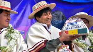 Presidente boliviano Evo Morales durante un acto público en Potosí. Foto: wkmradio.com