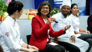 22 November 2018, Rome Italy - Ms Maria Helena Semedo. Innovation Symposium: Special Event: What's cooking? Dishing up innovation: a conversation between chefs and family farmers, (Sheikh Zayed Centre) FAO Headquarters.
