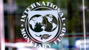 IMF logo. PHOTO: MANDEL NGAN/AGENCE FRANCE-PRESSE/GETTY IMAGES