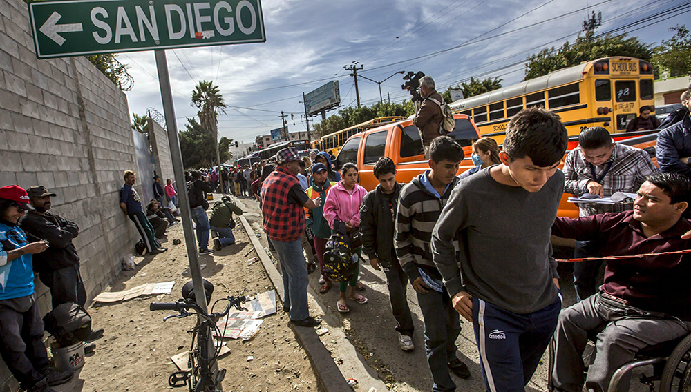 Caravana migrante en Tijuana. Foto: Animal Político