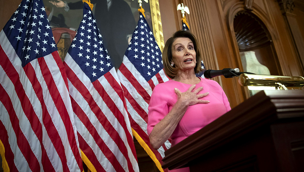 House Minority Leader Nancy Pelosi, D-Calif., speaks at a news conference on Capitol Hill in Washington, Wednesday, Nov. 7, 2018. Photo: J. Scott Applewhite, AP