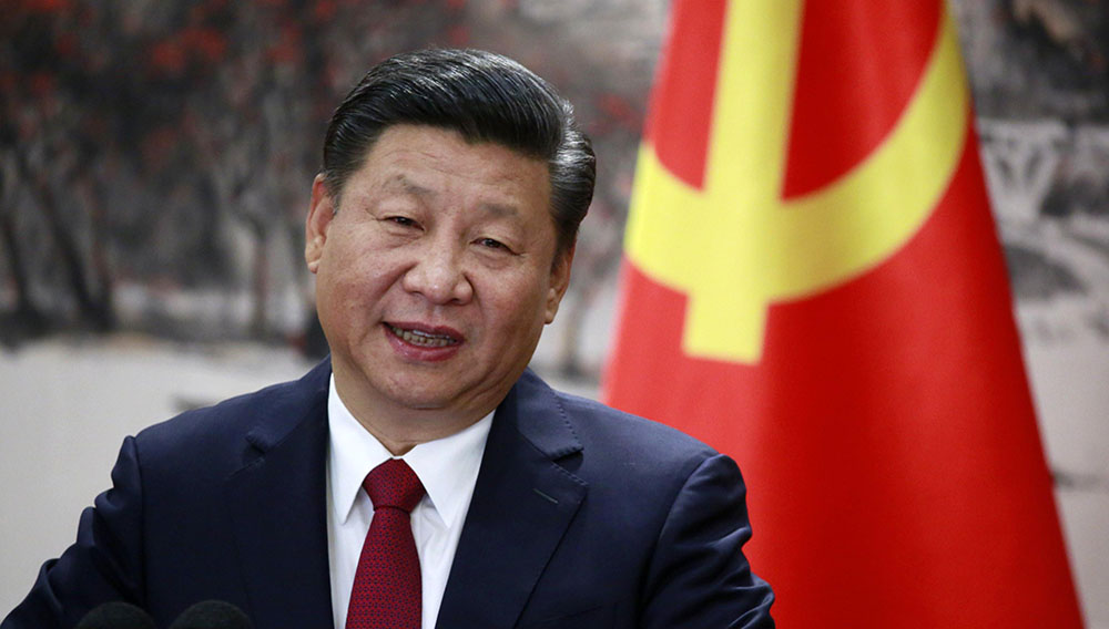 Chinese President and member of the Standing Committee of the Politburo Xi Jinping speaks at a press conference at the Great Hall of the People in Beijing, China, Oct. 25. PHOTO: HOW HWEE YOUNG/EPA-EFE/REX/SHUTTERSTOCK