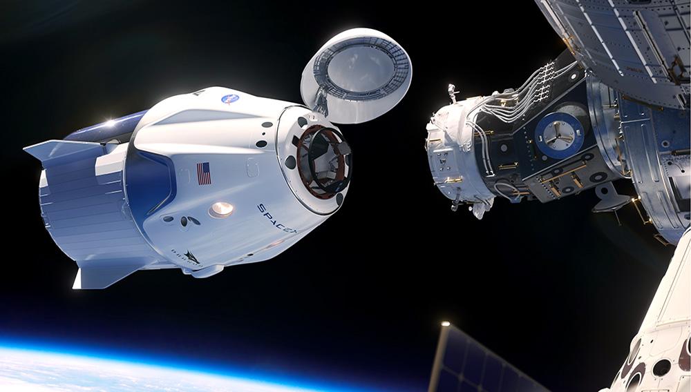 NASA Astronauts on Crew Dragon