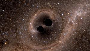 GRAF1246. SÍDNEY (AUSTRALIA), 04/12/2018.- Un equipo científico detectó las ondas gravitacionales que resultaron de la mayor colisión de agujeros negros jamás observada y que formó un nuevo agujero negro 80 veces más grande que el sol. La fusión del sistema binario de agujeros negros fue detectada el 29 de julio de 2017 a más de 9.000 millones de años luz y dio como resultado el agujero negro más grande conocido. EFE/UNIVERSIDAD NACIONAL AUSTRALIANA/SXS Detectan la mayor colisión de agujeros negros jamás observada