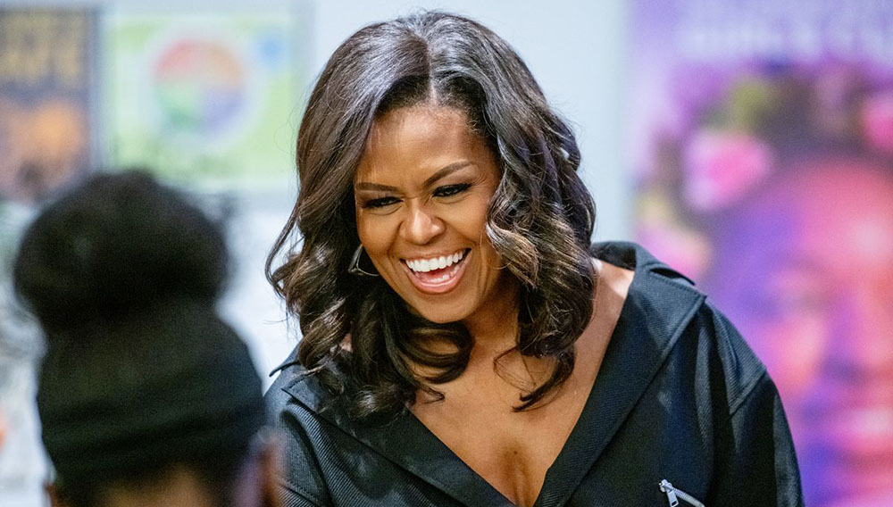Former first lady Michelle Obama visits the Lower Eastside Girls Club to discuss her new book Becoming. on December 1, 2018, in New York City. Roy Rochlin/Getty Images