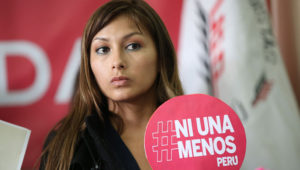 """Arlette Contreras, activista peruana cuyo caso impulsó el movimiento feminista """"Ni una menos""""."""