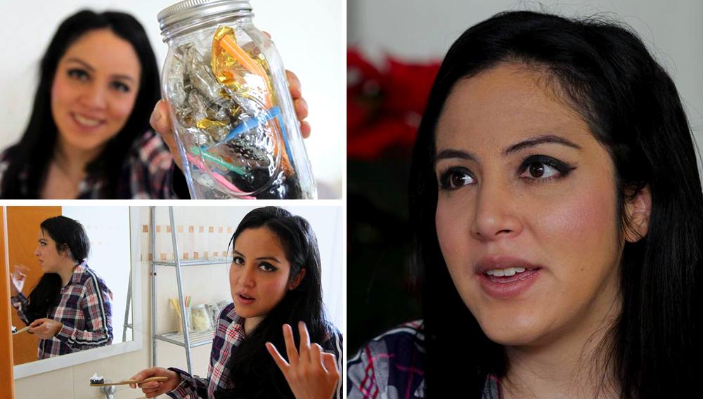 Fotografía fechada el viernes, 14 de diciembre de 2018, que muestra a la ambientalista Gaby Baeza mientras posa en entrevista con Efe, en Ciudad de México (México). EFE/Archivo