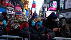 El Square Garden es el lugar tradicional de Estados Unidos para esperar el Año Nuevo. (AFP)