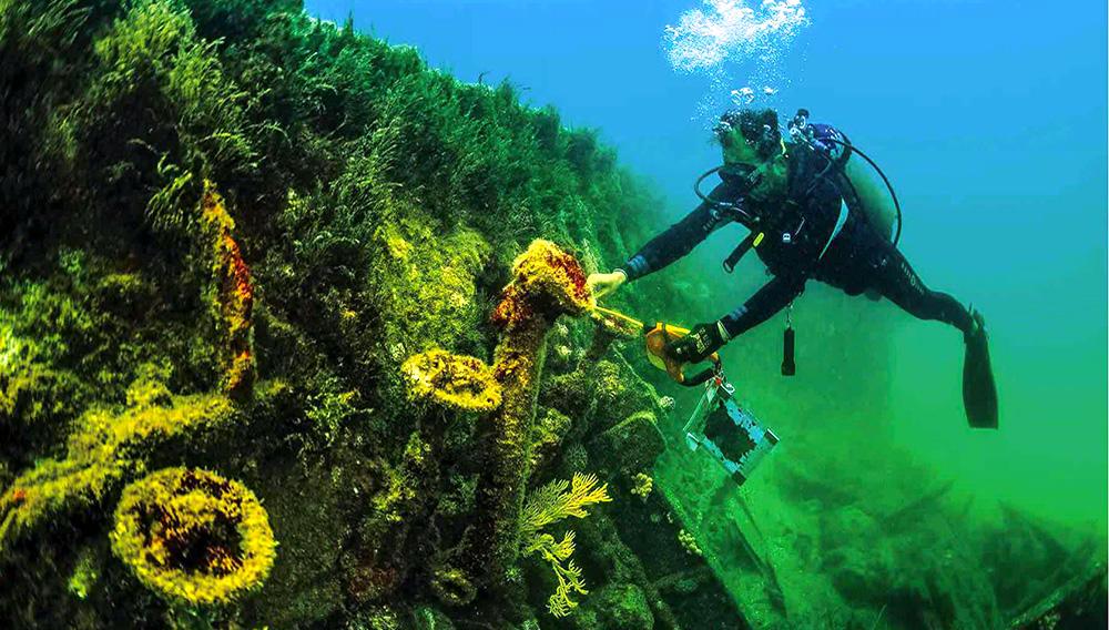 Baja California Sur - Cementerio submarino - Tras el USS-H1 (SS-28) Seawolf. Image credit: México Desconocido