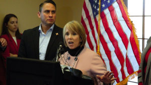New Mexico Gov. Michelle Lujan Grisham, Democrat, toured federal border facilities in Sunland Park and Santa Teresa on Friday, Jan. 11, 2019, holding a news conference afterward at the New Mexico Border Authority. (Photo: Diana Alba Soular /Sun-News)