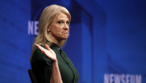 Counselor to President Trump Kellyanne Conway told CNN's Chris Cuomo that the White House doesn't talk about former political rival Hillary Clinton, hours after the president discussed Clinton at a press conference that day. (AP Photo/Carolyn Kaster)
