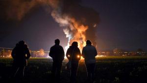 Explosión tras robo de combustible en Tlahuelilpan, Hidalgo (México). Foto: Alfredo ESTRELLA / AFP