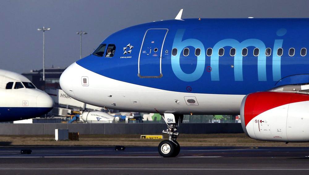 A BMI passenger jet at Heathrow airport in London. Photographer: Chris Ratcliffe/Bloomberg
