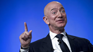 Jeff Bezos, founder and chief executive officer of Amazon.com Inc., speaks during a discussion at the Air Force Association's Air, Space and Cyber Conference in National Harbor, Maryland, U.S., on Wednesday, Sept. 19, 2018. Andrew Harrer | Bloomberg | Getty Images
