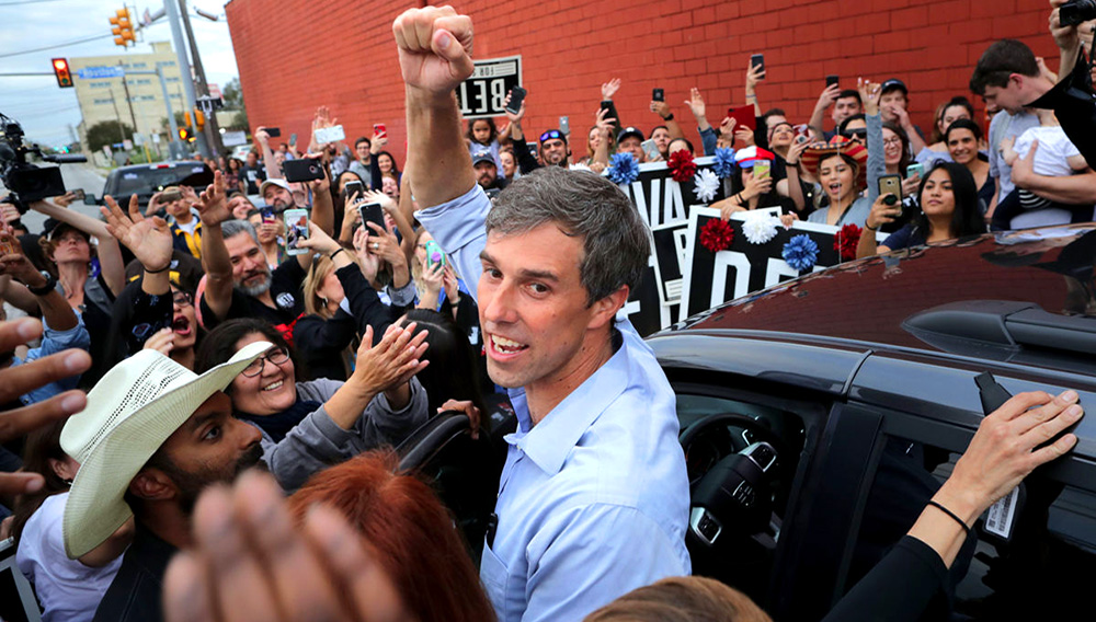 Beto O'Rourke made his run official with a video released on Thursday morning. CHIP SOMODEVILLA / GETTY IMAGES