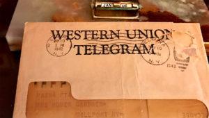 Western Union telegram. | deskgram.net