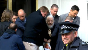 Wikileaks' Julian Assange removed from Ecuador embassy, found guilty of breaching bail - National | Globalnews.ca