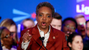Lori Lightfoot elected Chicago mayor, will be 1st black woman and 1st openly gay person.