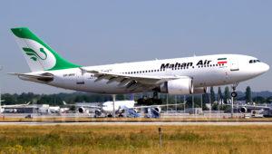 Avión Airbus A310-304 de la aerolínea iraní Mahan Air. Photo: Martin Tietz