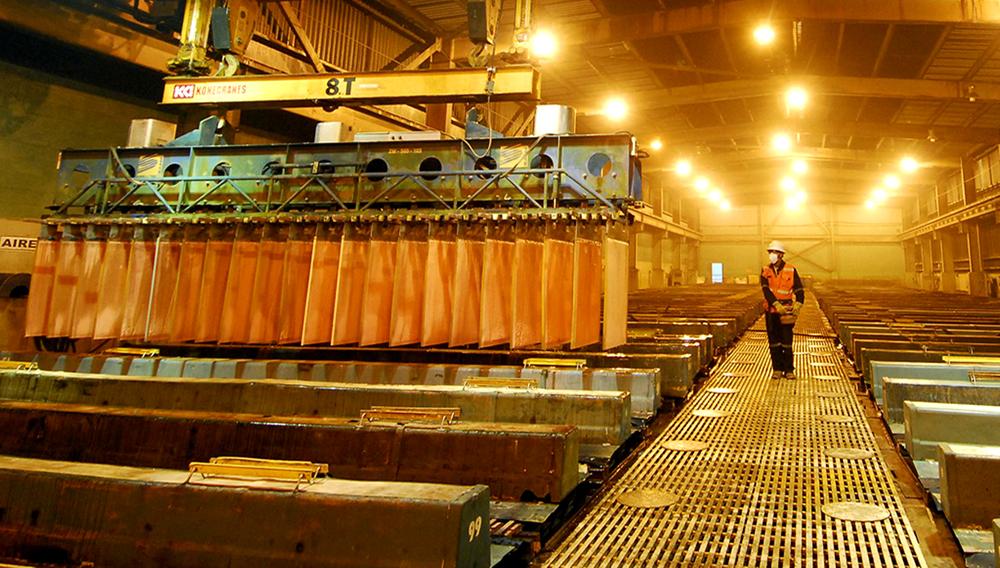 Procesamiento de cobre en Perú