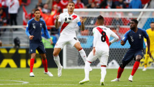 Soccer Football - World Cup - Group C - France vs Peru - Ekaterinburg Arena, Yekaterinburg, Russia - June 21, 2018 Peru's Paolo Guerrero in action REUTERS/Jason Cairnduff